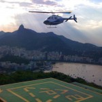 Helicopter on a way to Pao de Asucar