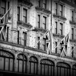 Flags on Harrods